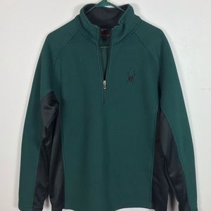 Spyder 1/4 zip Core Heavyweight pullover green XL